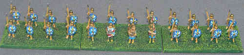 10mm Roman Auxiliary infantry of late 1st and early 2nd centuries AD.