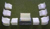 15mm Roman Half timber/stone fort for DBM/DBA/POW&WMA