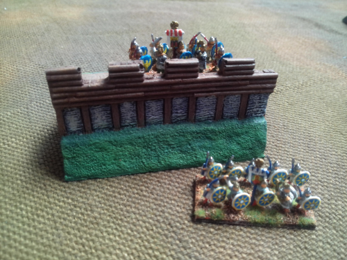 10mm Sub Roman Fort 80mm section