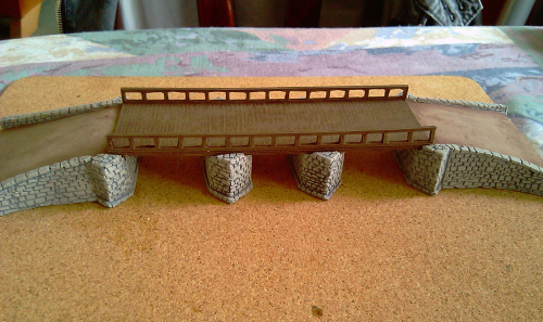 10mm Stone and wooden bridge