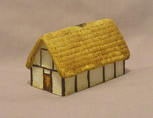 2 x 10mm medium size #2 Sub Roman  house