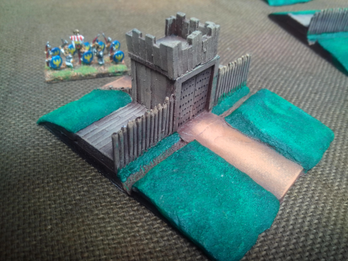 10mm Roman/Darkage ditch and palisade Gatehouse section