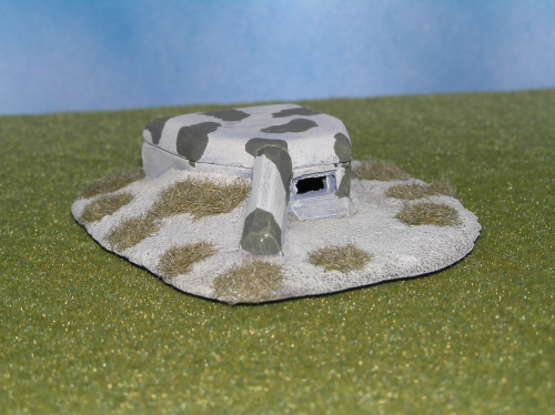 6mm WWII H669 Bunker, With Right enfilade wall