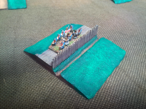 10mm Roman/darkage Ditch and palisade 80mm section