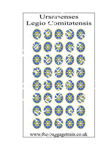 Late Roman shield transfers for Legiones comitatenses: Ursarienses