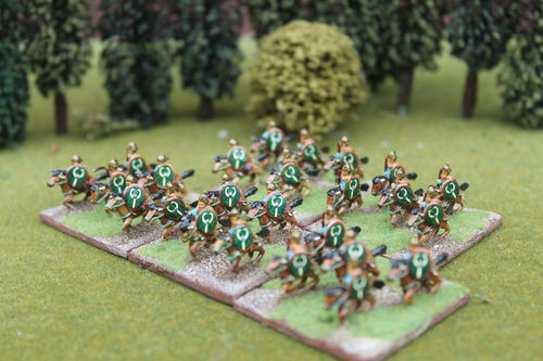 10mm Late Roman medium/light cavalry holding Javelin #1