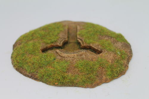 10mm WWII German entrenchments - 75mm IG weapon pit