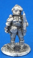 25/28mm Security Trooper with Assault Rifle 2 carrying over shoulder