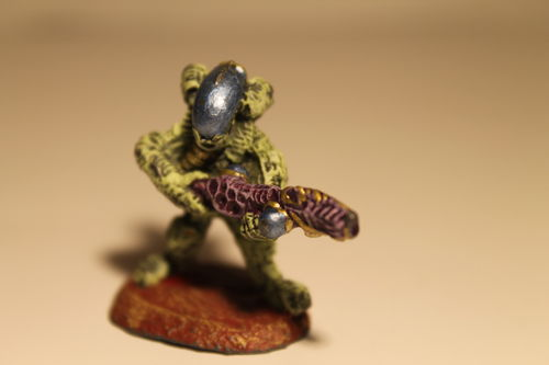25/28mm Bio-Mech Warriors with medium support weapon