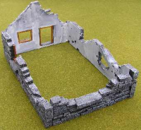 25/28mm destroyed cottage