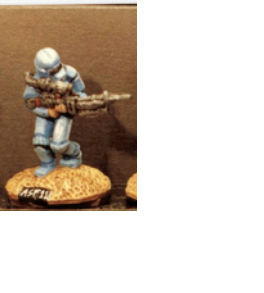 25/28mm figure of the Andromeda Federal Marines: Marine with Heavy laser #1