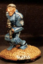 25/28mm figure of the Andromeda Federal Marines: Marine Scout