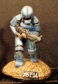 25/28mm figure of the Andromeda Federal Marines: Marine sniper