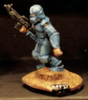 25/28mm figure of the Andromeda Federal Marines: Marine Female with Laser rifle