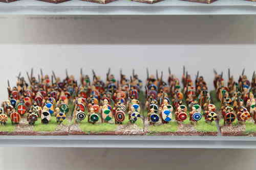 10mm Gothic infantry with spear and large shield