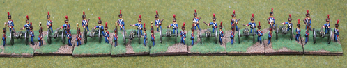 10mm French Army Post 1812 Infantry - French Line foot artillery crews